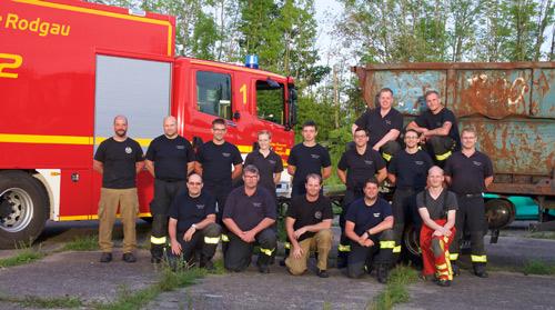 Gruppenfoto Feuerwehr Rodgau in Abensberg